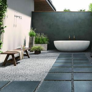 Terrassenplatten Black Basalt Design