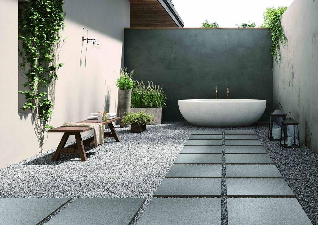 terrassenfliesen aus robustem feinsteinzeug outdoor fliesen. Black Bedroom Furniture Sets. Home Design Ideas