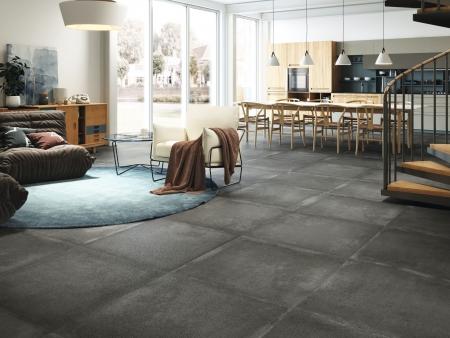 Grafton Anthracite Feinsteinzeug Fliesen Wohnzimmer