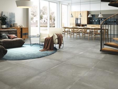 Graft Grey Feinsteinzeug Fliesen Wohnzimmer