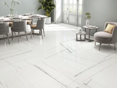 White Titanium Fliese Wohnzimmer