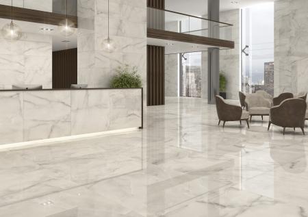 Atrani White Fliese Wohnraum Wand und Boden