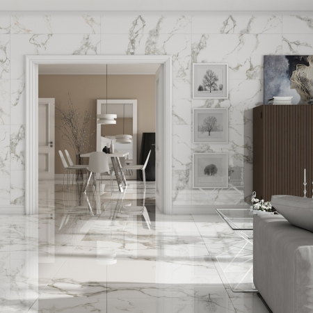 Luar White Fliese 119x59 Raum