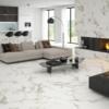 Varenna White Feinsteinzeug Fliese Wohnzimmer Boden und Wand