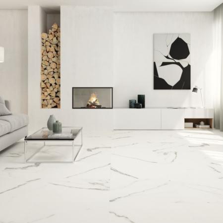 Calacatta Fliese matt Wohnraum