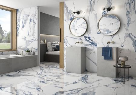 Fresh Blue Fliesen Badezimmer