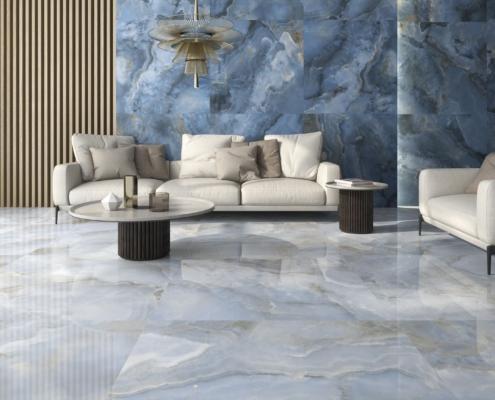 Onix Pearl Feinsteinzeug Fliesen Wohnraum